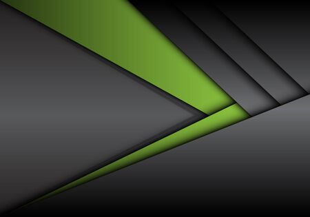 Abstract green grey metallic arrow direction with blank space design modern futuristic background vector illustration.