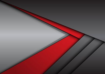 Abstract red grey metallic arrow direction with blank space design modern futuristic background vector illustration.