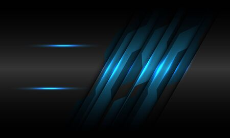 Abstract blue black metallic circuit line with blank space design modern futuristic technology background vector illustration.