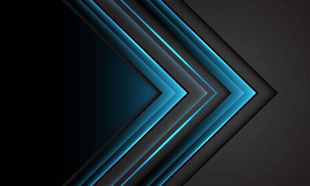 Abstract blue light grey arrow direction with black blank space design modern futuristic technology background vector illustration.