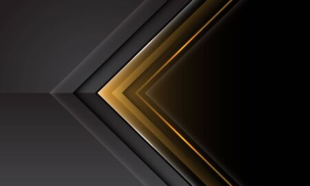 Abstract yellow grey arrow direction with black blank space design modern futuristic technology background vector illustration. Ilustração