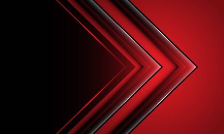 Abstract deep red arrow direction with black blank space design modern futuristic technology background vector illustration.
