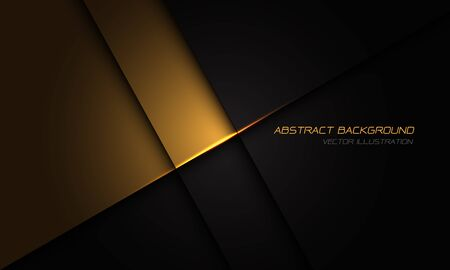 Abstract gold on black metallic texture with simple text design modern luxury futuristic background vector illustration.