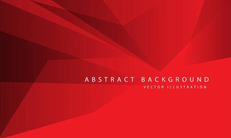 Abstract red tone polygon geometric design modern luxury background vector illustration. Ilustração