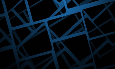 Abstract blue square mesh overlap on black design modern futuristic background vector illustration. 向量圖像