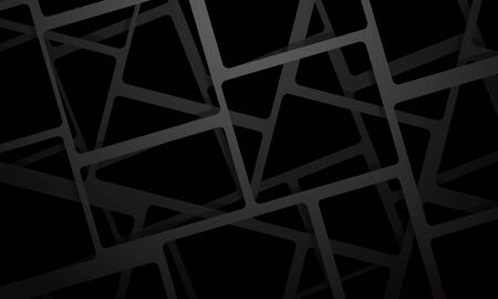Abstract grey square mesh overlap on black design modern futuristic background vector illustration.