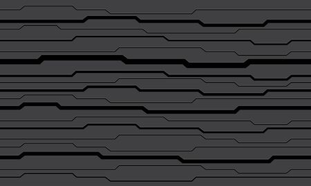 Abstract grey black circuit pattern modern futuristic technology background vector illustration.