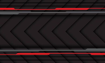 Abstract arrow direction red grey circuit cyber line design modern futuristic technology background vector illustration. 向量圖像