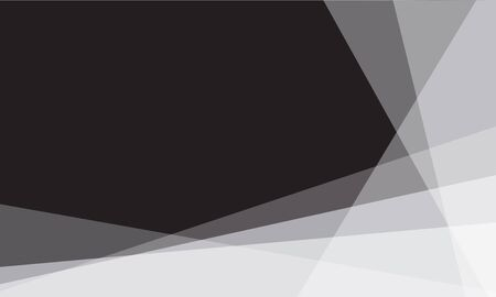 Abstract white  triangle overlap on black blank space design modern background vector illustration. 向量圖像
