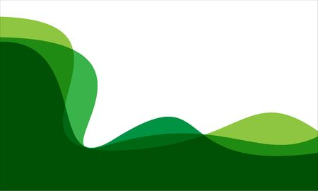 Abstract green tone curve wave on white blank space design modern background vector illustration.