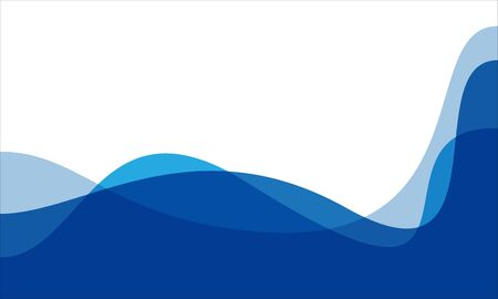 Abstract blue tone curve wave on white blank space design modern background vector illustration. 向量圖像