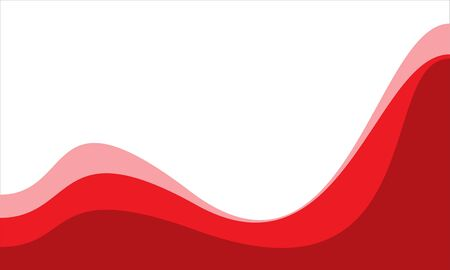 Abstract red tone curve wave on white blank space design modern background vector illustration.