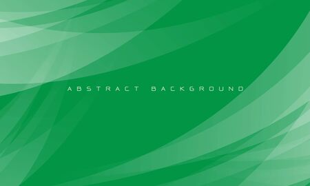 Abstract white curve overlap on green design modern futuristic background vector illustration. 向量圖像