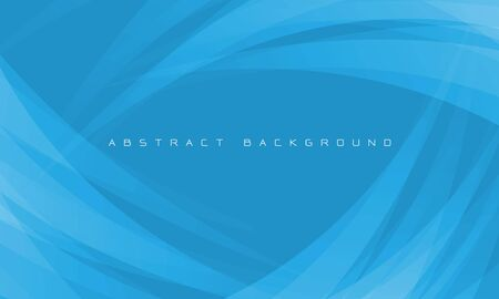 Abstract white curve overlap on blue design modern futuristic background vector illustration.