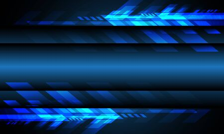 Abstract blue light arrow technology with blank space design modern futuristic technology background vector illustration.