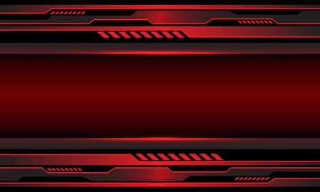 Abstract red metallic circuit cyber with blank space design modern futuristic technology background vector illustration.