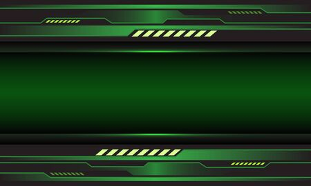 Abstract green metallic circuit cyber with blank space design modern futuristic technology background vector illustration. 向量圖像