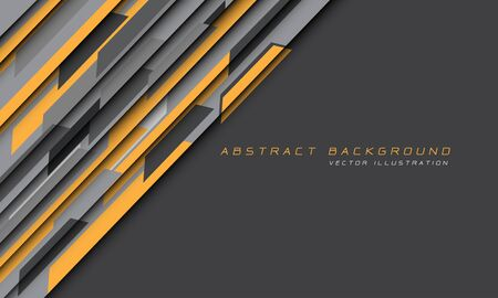 Abstract yellow grey hi-tech futuristic technology background vector illustration.