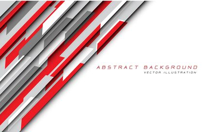 Abstract red grey hi-tech futuristic technology on white background vector illustration.