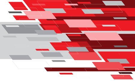 Abstract red grey white motion hi-tech technology design modern futuristic background vector illustration. 向量圖像
