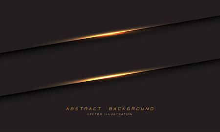 Abstract gold light line shadow on dark grey metallic design modern luxury futuristic background vector illustration.