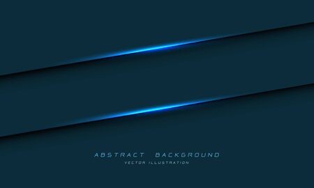 Abstract blue light line shadow on dark metallic design modern luxury futuristic background vector illustration. 向量圖像
