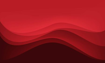 Abstract red tone wave curve layer background texture vector illustration.