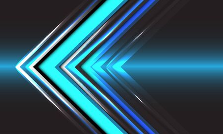 Abstract technology blue arrow direction speed light design modern futuristic background vector illustration.