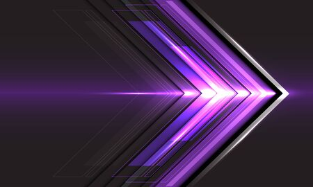 Abstract violet arrow light direction speed on black technology futuristic design modern background vector illustration. 向量圖像