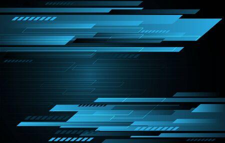 Abstract technology blue grey speed stripes on dark gradient. Modern futuristic background design vector illustration.