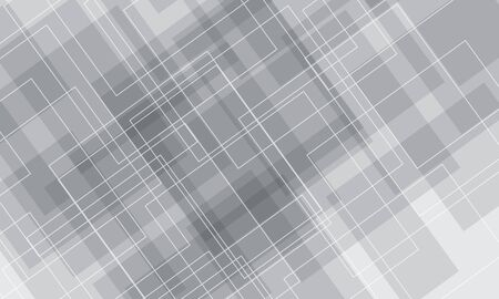 Abstract white grey square line luxury background vector illustration.