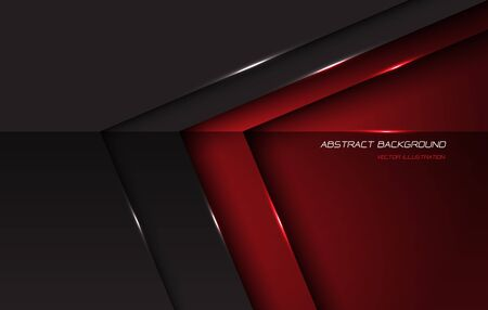 Abstract red grey metallic glossy arrow direction with blank space and text design modern futuristic background vector illustration.