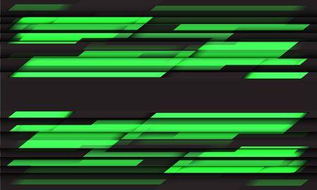 Abstract green neon grey geometric black futuristic design modern technology background vector illustration.