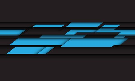 Abstract blue grey geometric black futuristic design modern technology background vector illustration.