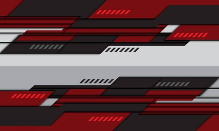 Abstract red grey geometric design modern futuristic technology background vector illustration.