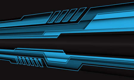 Abstract blue cyber line polygon zoom on black design modern futuristic technology background vector illustration.