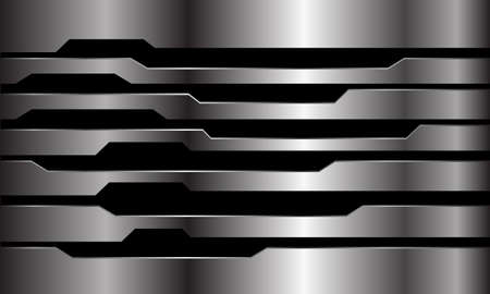 Abstract silver black polygon line cyber design modern futuristic technology background vector illustration.