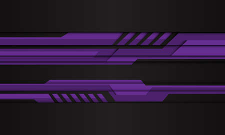 Abstract purple cyber polygon on black design modern futuristic technology background vector illustration.