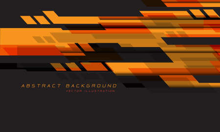 Abstract orange red grey geometric speed technology futuristic design background vector illustration.
