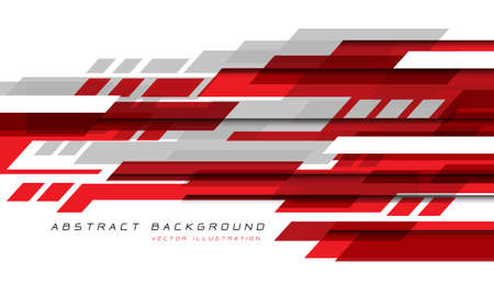 Abstract red grey white geometric speed technology futuristic design background vector illustration.