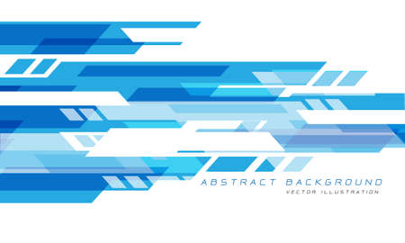 Abstract blue white geometric speed technology futuristic design background vector illustration.