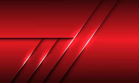 Abstract red metallic overlap line shadow design modern futuristic background texture vector illustration. 向量圖像