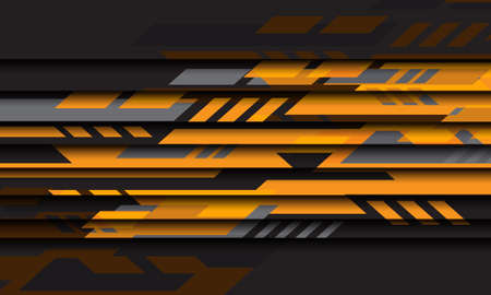 Abstract yellow grey geometric cyber futuristic technology design modern background vector illustration.