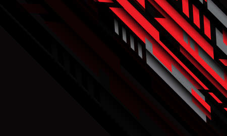 Abstract red wave curve on black design modern futuristic background vector illustration. 向量圖像
