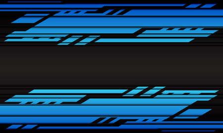Abstract blue cyber geometric on dark grey design modern futuristic background vector illustration.