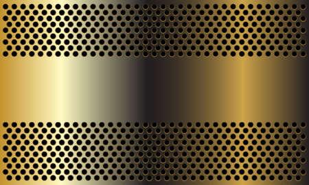 Abstract golden banner on circle mesh design modern luxury background vector illustration.