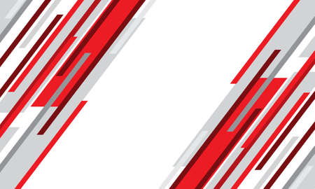 Abstract red grey geometric speed lines white blank space design modern futuristic background vector illustration.