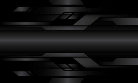 Abstract dark grey metallic geometric cyber circuit design modern futuristic technology background vector illustration. 向量圖像