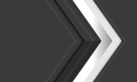 Abstract white diamond arrow direction on grey metallic with blank space design modern futuristic background vector illustration.