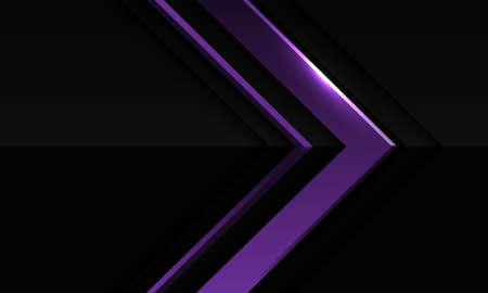 Abstract violet metallic arrow direction in dark grey with blank space design modern futuristic background vector illustration. 向量圖像